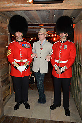 HENRY CONWAY and guardsmen at Skiing With Heroes Junior Committee Awareness Party held at Bodo's Schloss, 2A Kensington High Street, London on 6th November 2014.