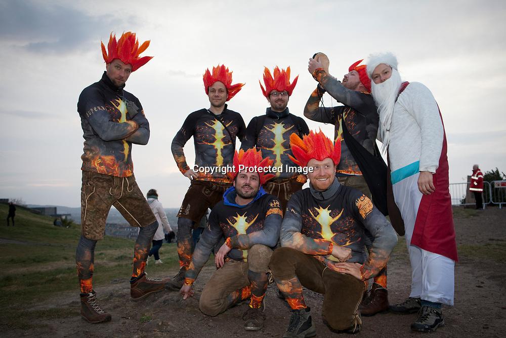Edinburgh, Scotland, UK. 30th April 2017. Beltane Fire Festival plays host to a cavalcade of colourful characters and a narrative guides the night at Calton Hill, Edinburgh. Pako Mera