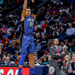 Oct 30, 2017; New Orleans, LA, USA; Orlando Magic forward Aaron Gordon (00) shoots against the New Orleans Pelicans during the second quarter of a game at the Smoothie King Center. Mandatory Credit: Derick E. Hingle-USA TODAY Sports