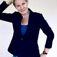 Nederland, Amsterdam , 30 juni 2014.<br /> Helene Pronk adjunct-hoofdredacteur bij de Amsterdamse radio televisie omroep AT5.<br /> Foto:Jean-Pierre Jans