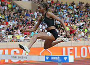 Beatrice Chepkoech (KEN) wins the women's steeplechasse in a world record 8:44.32 during the Herculis Monaco in an IAAF Diamond League meet at Stade Louis II stadium in Fontvieille, Monaco on Friday, July 20, 2019.  Jiro Mochizuki/Image of Sport)