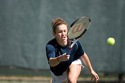 Caroline Hammond in action against Wake.  The Virginia Cavaliers Women's Tennis team fell to the #14 Wake Forest Demon Decons 6-1 at the Snyder Tennis Center in Charlottesville, VA on March 25, 2007.