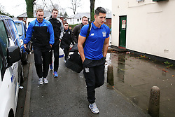 Bury FC players and staff arrive at Spotland Stadium - Mandatory byline: Matt McNulty/JMP - 06/12/2015 - Football - Spotland Stadium - Rochdale, England - Rochdale v Bury - FA Cup