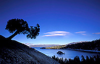 Cold winter evening at Emerald Bay. Lake Tahoe, CA<br />