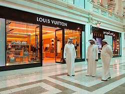 Louis Vuitton boutique in  upmarket Villaggio shopping mall in Doha Qatar