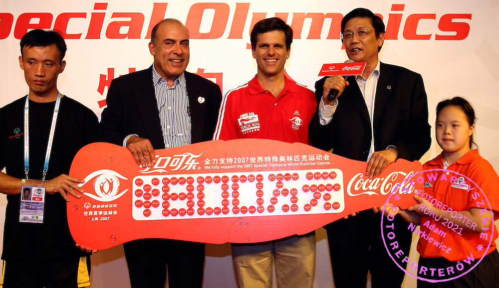 (C) TIM SHRIVER (CHAIRMAN OF SPECIAL OLYMPICS) DURING SPORT EXPERIENCE INCLUDING SPECIAL OLYMPICS WORLD SUMMER GAMES SHANGHAI 2007..SPECIAL OLYMPICS IS AN INTERNATIONAL ORGANIZATION DEDICATED TO EMPOWERING INDIVIDUALS WITH INTELLECTUAL DISABILITIES..SHANGHAI , CHINA , OCTOBER 01, 2007.( PHOTO BY ADAM NURKIEWICZ / MEDIASPORT )..
