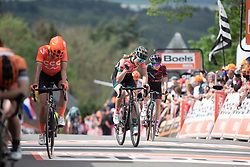 Demi Vollering (NED) of Parkhotel Valkenburg - Destil Cycling Team finishes in the Fleche Wallonne Femme - a 118.5 km road race, starting and finishing in Huy on April 24, 2019, in Liege, Belgium. (Photo by Balint Hamvas/Velofocus.com)
