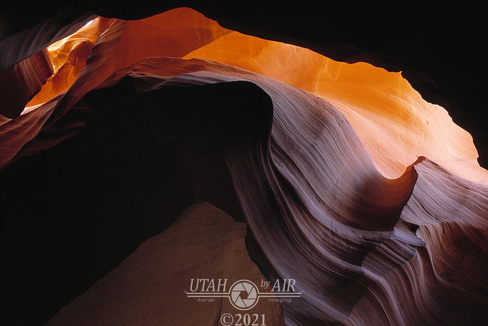 Antelope Canyon, a slot canyon in Northern Arizona