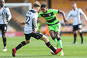 Forest Green Rovers Reece Brown(10) takes on Port Vale's Tom Conlon(22) during the EFL Sky Bet League 2 match between Port Vale and Forest Green Rovers at Vale Park, Burslem, England on 23 March 2019.