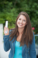 """12/08/2015 Meghan McCarthy, Oranmore Galway """"Delighted"""" with her 605 points in her leaving certificate results from Yeats College Galway. Photo:Andrew Downes"""