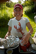 At the Cabbage Island lobster bake