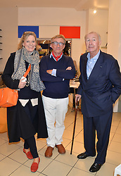 Left to right, LADY CONRAN, JASPER CONRAN and SIR TERENCE CONRAN at the launch of A Season In France hosted by Jasper Conran at The Conran Shop, 81 Fulham Road, London on 1st May 2014.