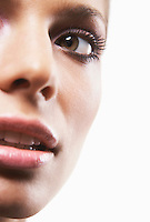 Young woman's face cropped