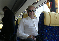Per Mathias Hogmo coach of FC Rosenborg after arrival on Bucuresti airport<br /> 09.08.2005<br /> Photo: Aleksandar Djorovic
