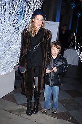 TILLY WOOD and her son ARTHUR WOOD at the opening of the Somerset House ice Rink for 2008 sponsored by Tiffany & Co held at Somerset House, The Strand, London on 18th November 2008.