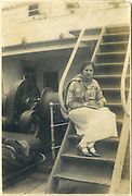 Nora van Langenberg on her way to England to train as a nurse.