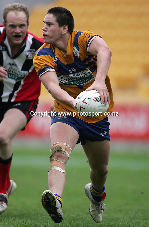 Fabian Souter during the Bartercard Cup Final between Mt. Albert and Canterbury at Ericsson Stadium, Auckland, New Zealand on Sunday September 18, 2005. Mt. Albert won the match, 24 - 22. Photo: Hannah Johnston/PHOTOSPORT<br /><br /><br /><br /><br />135262