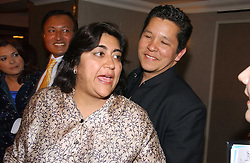 PAUL BERGES and his wife film director GURINDER CHADHA at the 10th Anniversary Asian Business Awards 2006 at the London Grosvenor Hotel Park Lane, London on 19th April 2006.<br /><br />NON EXCLUSIVE - WORLD RIGHTS