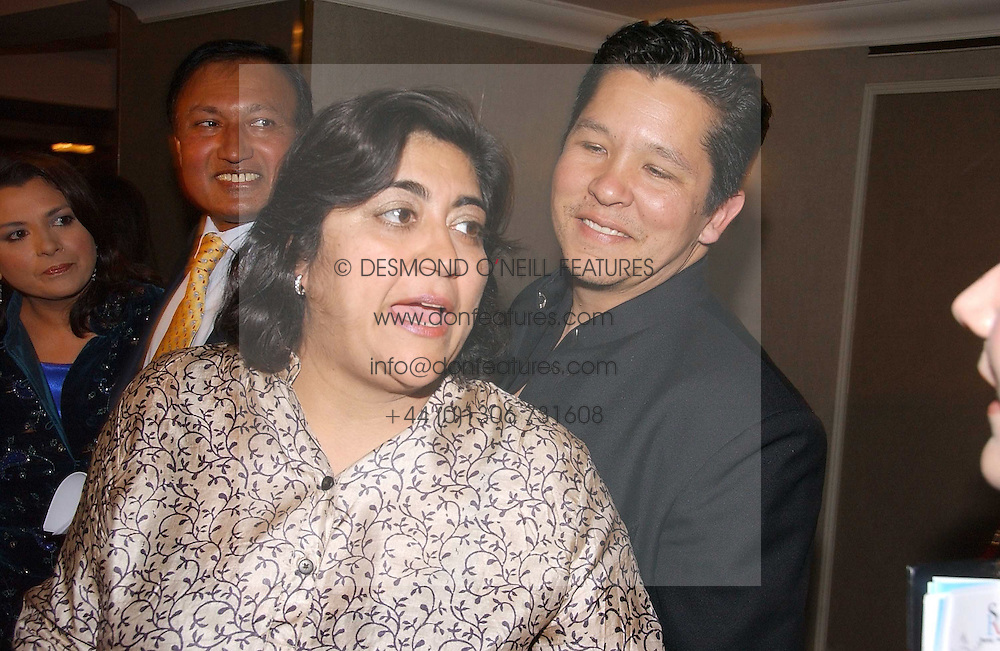 PAUL BERGES and his wife film director GURINDER CHADHA at the 10th Anniversary Asian Business Awards 2006 at the London Grosvenor Hotel Park Lane, London on 19th April 2006.<br />