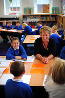 Picture By Jim Wileman  30/09/2009  Headteacher Angela Palin pictured at St Mellion Primary School, Cornwall.