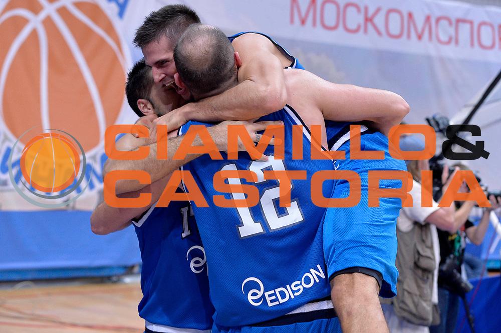 DESCRIZIONE : Mosca Moscow Qualificazione Eurobasket 2015 Qualifying Round Eurobasket 2015 Russia Italia Russia Italy<br /> GIOCATORE : Marco Cusin Andrea Cinciarini<br /> CATEGORIA : Esultanza<br /> EVENTO : Mosca Moscow Qualificazione Eurobasket 2015 Qualifying Round Eurobasket 2015 Russia Italia Russia Italy<br /> GARA : Russia Italia Russia Italy<br /> DATA : 13/08/2014<br /> SPORT : Pallacanestro<br /> AUTORE : Agenzia Ciamillo-Castoria/GiulioCiamillo<br /> Galleria: Fip Nazionali 2014<br /> Fotonotizia: Mosca Moscow Qualificazione Eurobasket 2015 Qualifying Round Eurobasket 2015 Russia Italia Russia Italy<br /> Predefinita :