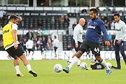 Derby County midfielder Tom Huddlestone (44) warms up during the EFL Sky Bet Championship match between Derby County and Bristol City at the Pride Park, Derby, England on 20 August 2019.
