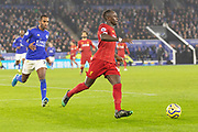 Naby Keita (8) on the ball during the Premier League match between Leicester City and Liverpool at the King Power Stadium, Leicester, England on 26 December 2019.