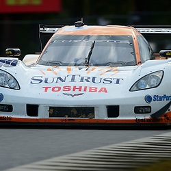 The SunTrust Racing Chevrolet Corvette DP driven by Max Angelelli and Ricky Taylor during the Grand-Am Rolex Sports Car Series Championship weekend at Lime Rock Park in Lakeville, Conn.