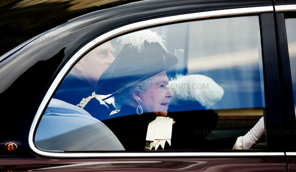 The Queen attends a thistle service for the installation of two Knights of the Thistle at St Giles Cathedral Edinburgh - 2nd July 2008..