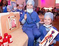 Dr. Lucy Boyle and Dr Ella Greaney Scoil Mhuire Oranmore at the Medtronic Community Event , comprising of projects about Healthy Living and the heart, KNEX finals and Lean Sigma catapult competition organised by the Galway Education Centre at the Radisson Blu Hotel Galway. Photo:Andrew Downes.