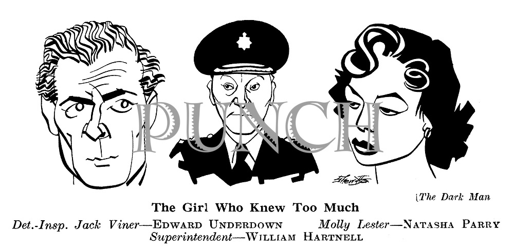 The Dark Man ; Edward Underdown , Natasha Parry and William Hartnell