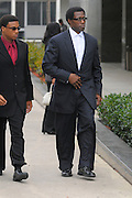 "Jan 31, 2008; Ocala, Fla.: Actor Wesely Snipes leaves the Federal Court building in Ocala, Florida..Snipes, the star of the ""Blade"" films and ""White Men Can't Jump,"" is on trial with two tax protesters in one of the biggest criminal cases in IRS history. Snipes could get up to 16 years in prison if convicted on all counts, although sentences that long are unusual...© 2008 Scott A. Miller"