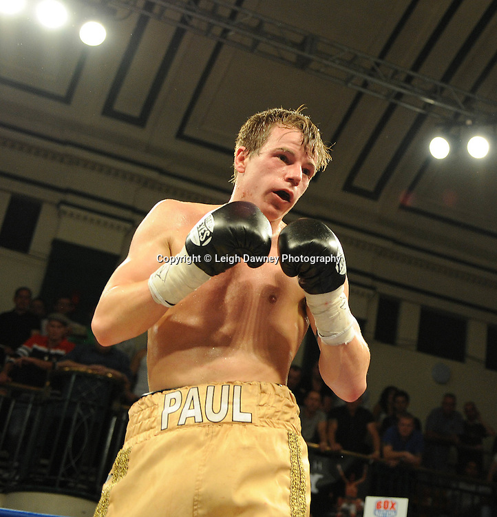 Liam Walsh defeats Paul Appleby (pictured) for The Commonwealth Super-Featherweight Championship at York Hall, Bethnal Green, London on Friday 30th September 2011. Box Nation.tv's debut live TV Channel 456 on Sky. Photo credit: © Leigh Dawney. Queensberry Promotions.