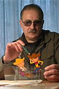 02.04.2006 Bielsko-Biala Poland. Roman Nehrebecki son of Wladyslaw Nehrebecki Bolek i Lolek cartoon creator. Fot. Piotr Gesicki