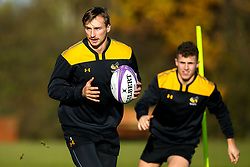 Josh Bassett and Billy Searle of Wasps during training ahead of the European Challenge Cup fixture against SU Agen - Mandatory by-line: Robbie Stephenson/JMP - 18/11/2019 - RUGBY - Broadstreet Rugby Football Club - Coventry , Warwickshire - Wasps Training Session