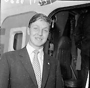 Cúilean Irish Horse Jumping Team arrives home.<br /> 10.07.1961