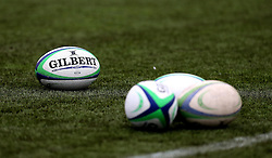 Rugby balls lie on the 3G surface at Worcester Warriors' Sixways Stadium - Mandatory by-line: Robbie Stephenson/JMP - 22/01/2017 - RUGBY - Sixways Stadium - Worcester, England - Worcester Warriors U18 v Northampton Saints U18 - Premiership Rugby U18 Academy League