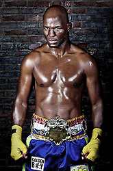 June 6, 2011; Philadelphia, PA; USA; Bernard Hopkins studio session