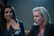 Sen. Kirsten Gillibrand (D-NY) speaks at 'She Should Run' conference in Washington, DC.