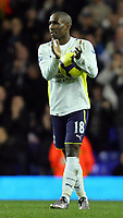 Tottenham Hotspur FC vs Wigan FC Premier League 22/11/09<br /> Pic Nicky Hayes/Fotosports International<br /> Jermaine Defoe with the match ball.