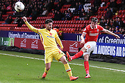 Charlton Athletic defender Morgan Fox during the Sky Bet Championship match between Charlton Athletic and Milton Keynes Dons at The Valley, London, England on 8 March 2016. Photo by Martin Cole.