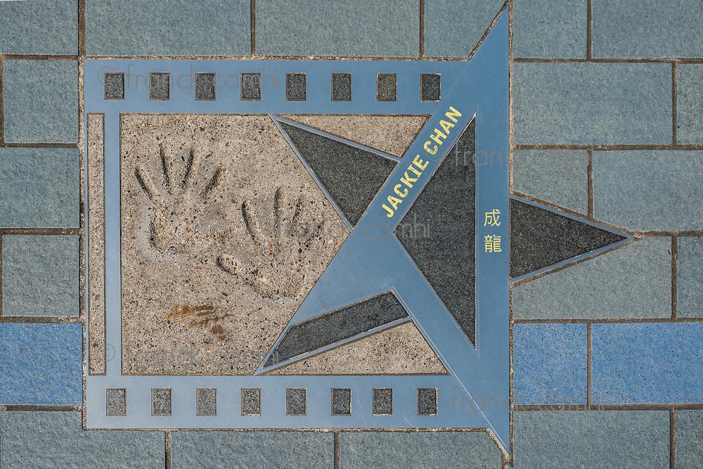 Jackie Chan star at Avenue of Stars Tsim Sha Tsui Kowloon in Hong Kong
