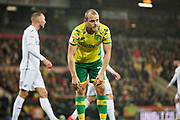 Norwich City forward Teemu Pukki (22) rues a miss during the EFL Sky Bet Championship match between Norwich City and Swansea City at Carrow Road, Norwich, England on 8 March 2019.
