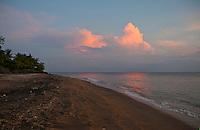 Beach just before dawn in Amed, Bali, Indonesia