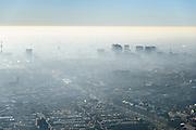 Nederland, Noord-Holland, Amsterdam, 11-12-2013; Amsterdam-Zuid met zicht op de Zuidas (in tegenlicht). Ruysdaelkade en Hobbemakade.<br /> South Amsterdam with a view of the Zuidas financial centre (backlit).<br /> luchtfoto (toeslag op standaard tarieven);<br /> aerial photo (additional fee required);<br /> copyright foto/photo Siebe Swart.