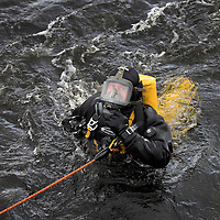 Search for 15 year old Kathleen Harkin…..10.10.16<br />Police Scotland, Scottish Fire and Rescue and Tayside Mountain Rescue Team searching the River Tay in Perth for missing Murthly teenager Kathleen Harkin…Police divers searching the area near to Woody Island struggling to cope with the current<br />Picture by Graeme Hart.<br />Copyright Perthshire Picture Agency<br />Tel: 01738 623350  Mobile: 07990 594431