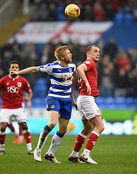 Aaron Wilbraham of Bristol City battles for the high ball with Paul McShane of Reading  - Mandatory byline: Joe Meredith/JMP - 07966 386802 - 02/01/2016 - FOOTBALL - Madejski Stadium - Reading, England - Reading v Bristol City - Sky Bet Championship