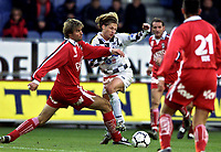 Fotball<br /> Bundesliga Østerrike 2003/2004<br /> Sturm Graz v Bregenz<br /> 18.10.2003<br /> Norway Only<br /> Foto: Digitalsport<br /> <br /> Bjørn Otto Bragstad (Bregenz) - Gyoergy Korsos (Sturm)
