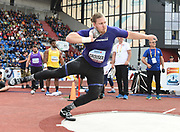 Ryan Crouser (USA) places second in the shot put at 70-11 3/4 (21.63m) during the IAAF Continental Cup 2018 at Mestkey Stadion in Ostrava, Czech Republic, Saturday, Sept. 8, 2018. (Jiro Mochizuki/Image of Sport)