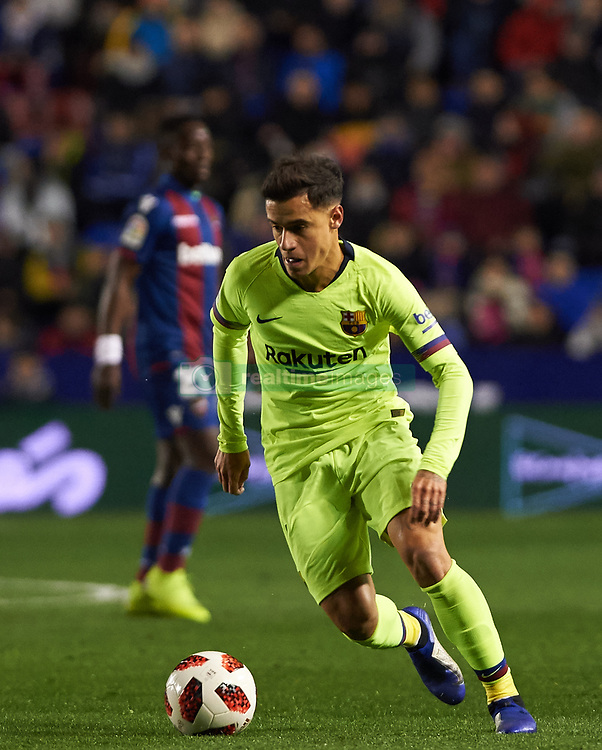 January 10, 2019 - Valencia, Valencia, Spain - Philippe Coutinho of FC Barcelona during the Spanish Copa del Rey match between Levante and Barcelona at Ciutat de Valencia Stadium on Jenuary 10, 2019 in Valencia, Spain. (Credit Image: © Maria Jose Segovia/NurPhoto via ZUMA Press)